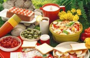 red-picnic-spread